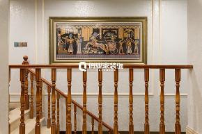 别墅 法式 装修风格 楼梯图片来自俏业家装饰在法蓝西庄邸别墅|法式风格装修的分享