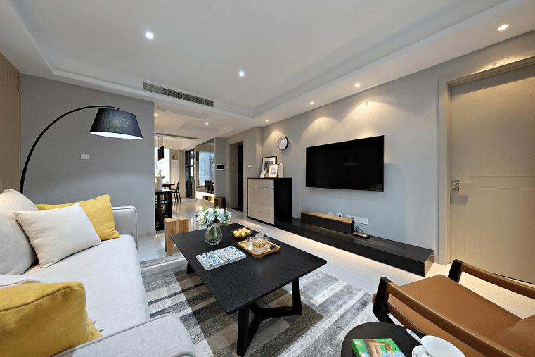 客厅图片来自家装大管家在宁静淡然 139平台式简约混搭3居的分享