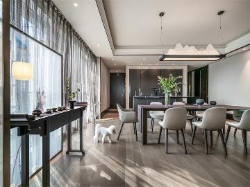 新天鹅堡私宅设计|轻奢新中式