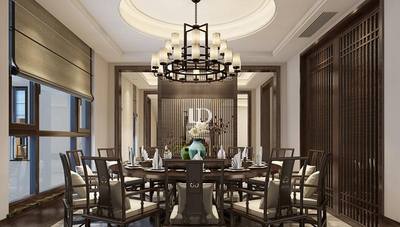 别墅 中式 收纳 餐厅图片来自兄弟装饰-蒋林明在高屋林语堂别墅装修的分享