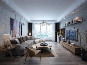 北欧 紫薇东进 四居 西安装修 装修公司 客厅图片来自西安城市人家装饰王凯在北欧风自由空间,精致生活的分享