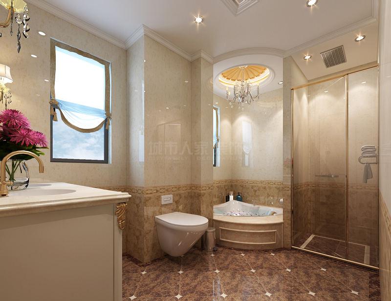 欧式 九锦台 四居 装修公司 西安装修 卫生间图片来自西安城市人家装饰王凯在法式宫廷范,细腻到时光里的分享