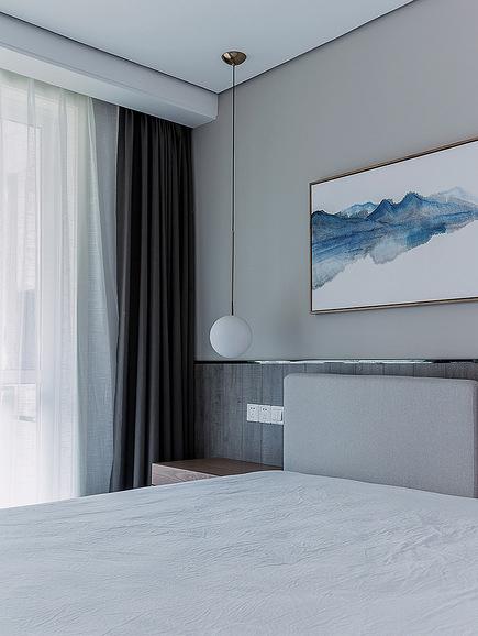 卧室图片来自家装大管家在舒适的家 78平简约现代时尚空间的分享