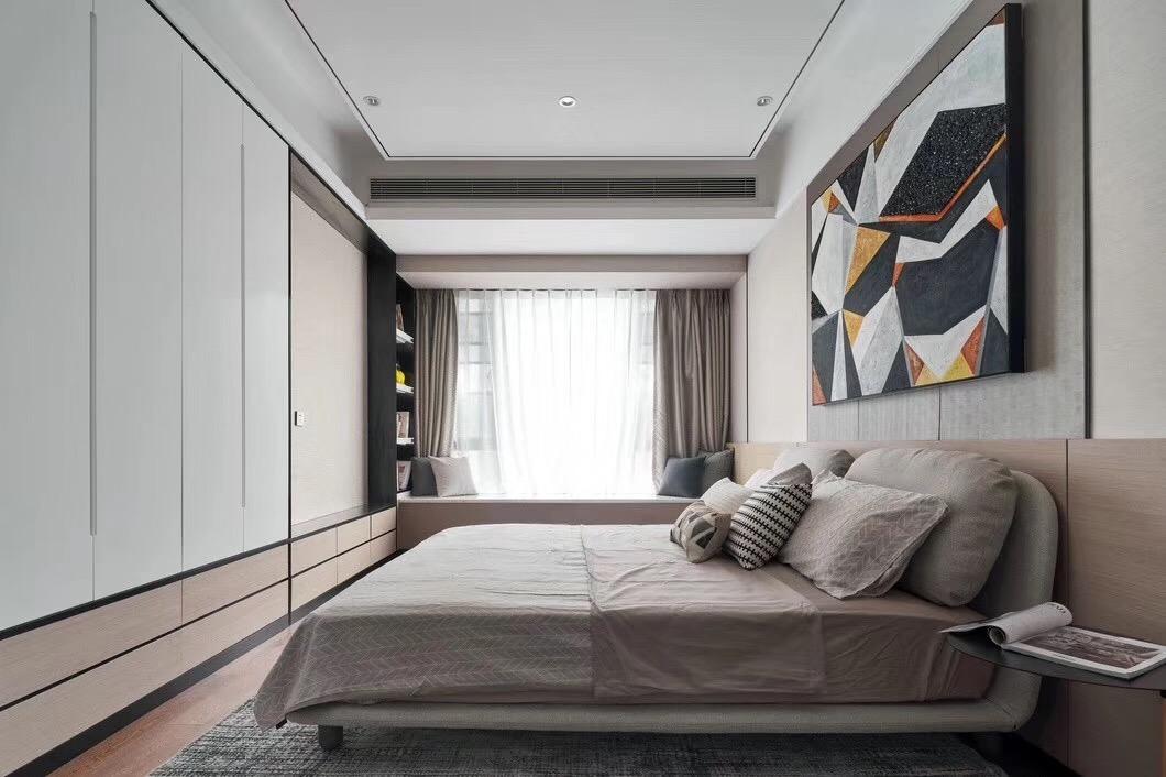 四居 现代 卧室图片来自快乐彩在城阳246平大平层典雅高级灰的分享