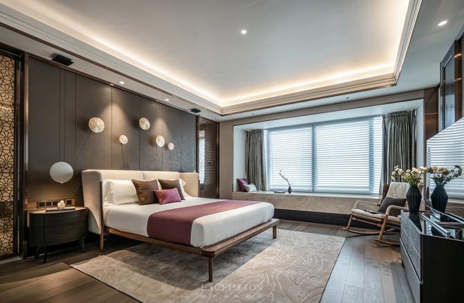 新天鹅堡 新中式 四居 私宅设计 卧室图片来自例外软装设计在新天鹅堡私宅设计--绝美新中式的分享