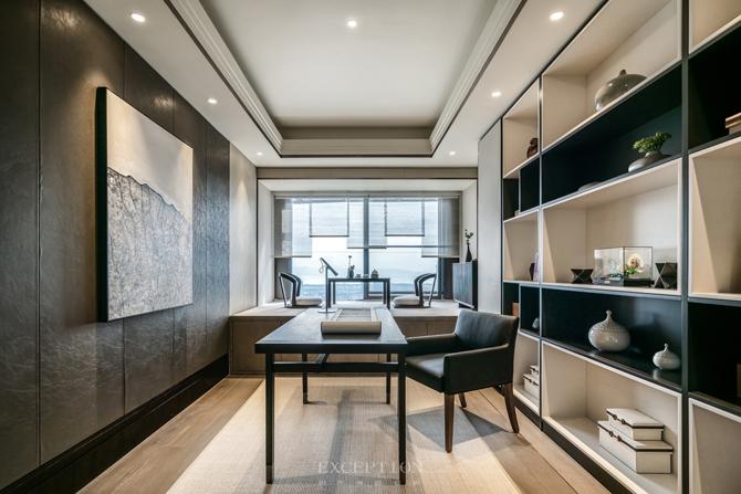 新天鹅堡 新中式 四居 私宅设计 书房图片来自例外软装设计在新天鹅堡私宅设计--绝美新中式的分享
