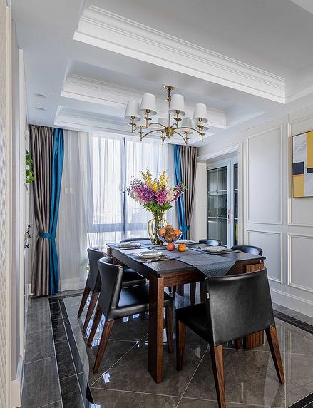 餐厅图片来自家装大管家在110平简约美式3居 让宁静不低调的分享
