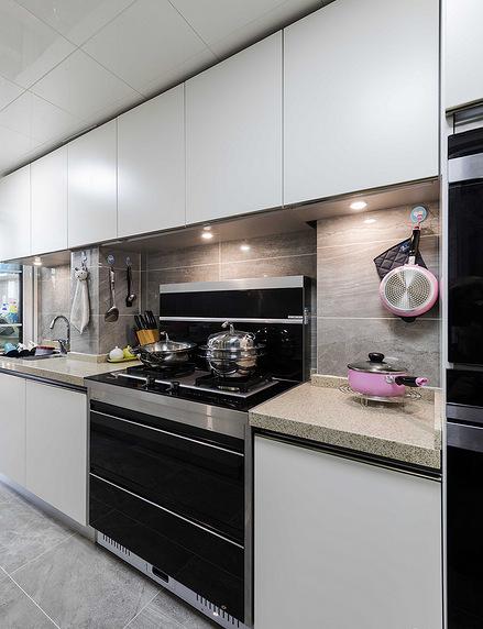 厨房图片来自家装大管家在110平简约美式3居 让宁静不低调的分享
