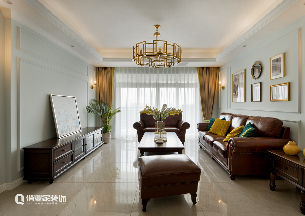 简美 装修 设计 客厅图片来自俏业家装饰在天高鸿苑简美风格装修俏业家装饰的分享