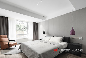简约 现代 小资 卧室图片来自禾景大陈设计在低调的轻奢感,最爱高级灰的分享