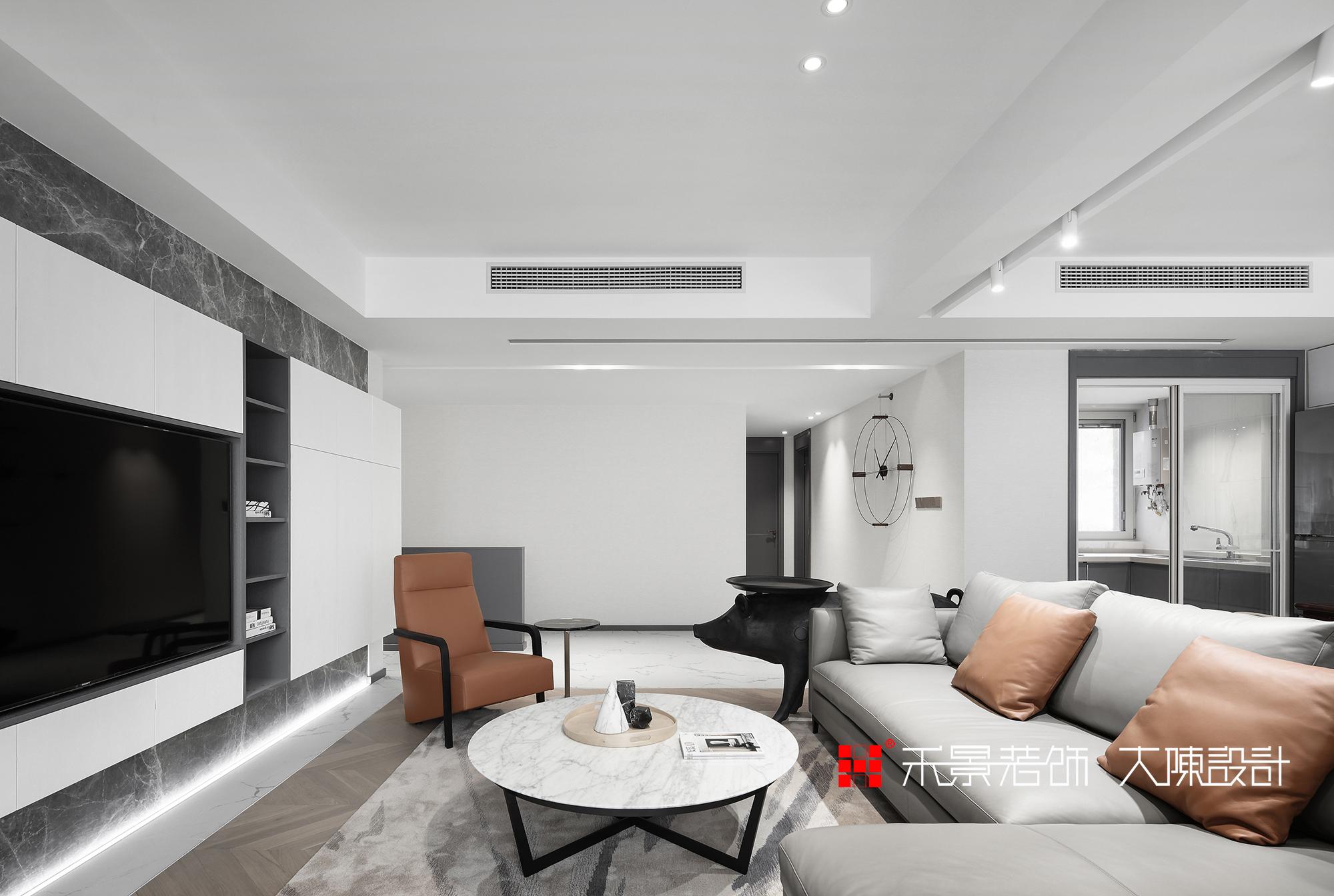 简约 现代 小资 客厅图片来自禾景大陈设计在低调的轻奢感,最爱高级灰的分享