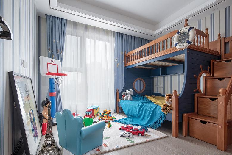 儿童房图片来自家装大管家在稳重优雅 140平现代美式混搭3居的分享