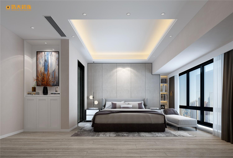 卧室图片来自深圳浩天装饰在龙华壹城中心135平现代风格的分享