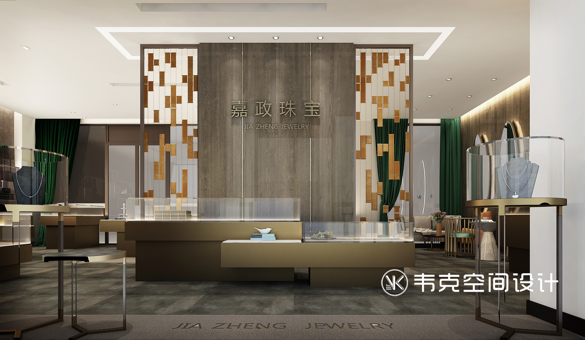 客厅图片来自韦克空间设计在珠宝店设计让空间更加自在与灵动的分享