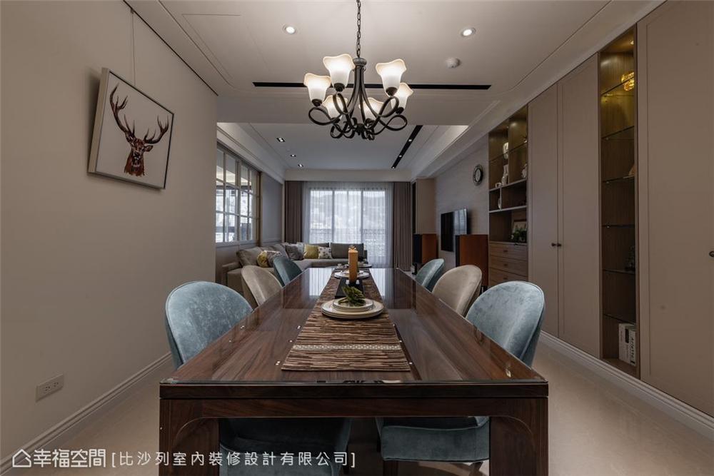 装修设计 装修完成 美式风格 餐厅图片来自幸福空间在126平, 当代古典的折衷主义的分享