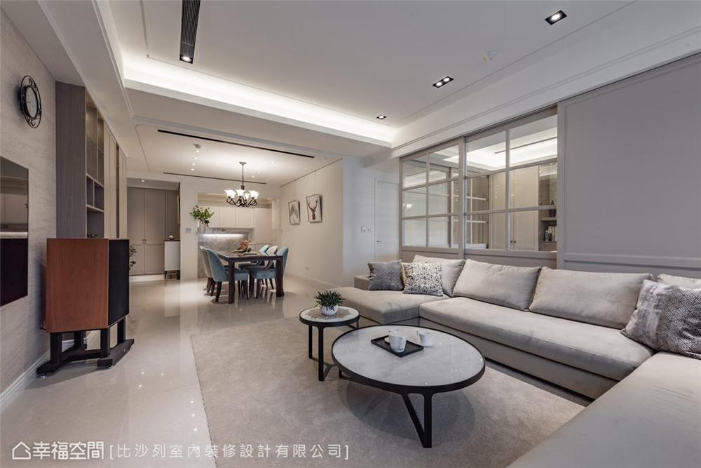 装修设计 装修完成 美式风格 客厅图片来自幸福空间在126平, 当代古典的折衷主义的分享