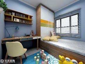简约 三居 收纳 儿童房图片来自河南追美装饰在和昌中央城邦115㎡简约风~的分享