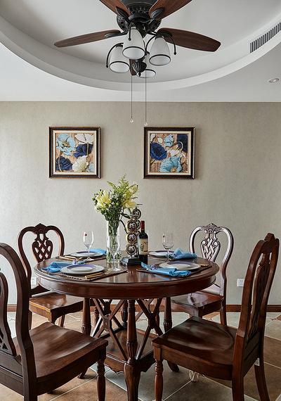餐厅图片来自家装大管家在舒畅自然 142平美式乡村混搭3居的分享