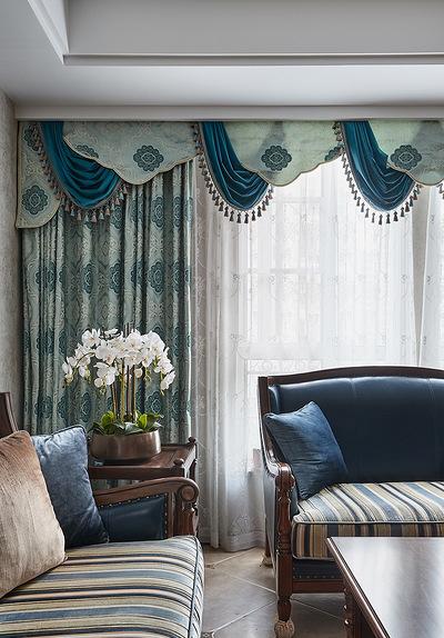 客厅图片来自家装大管家在舒畅自然 142平美式乡村混搭3居的分享