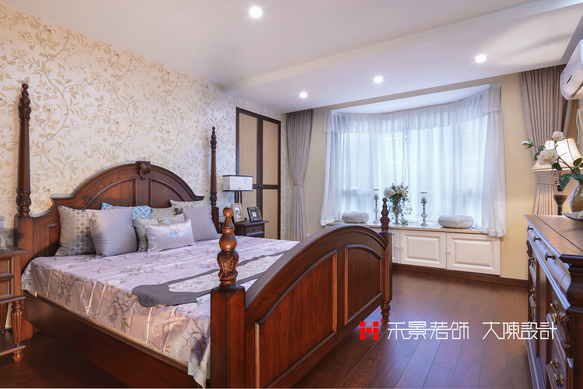 中式 卧室图片来自禾景大陈设计在空谷幽兰亦芬芳的分享
