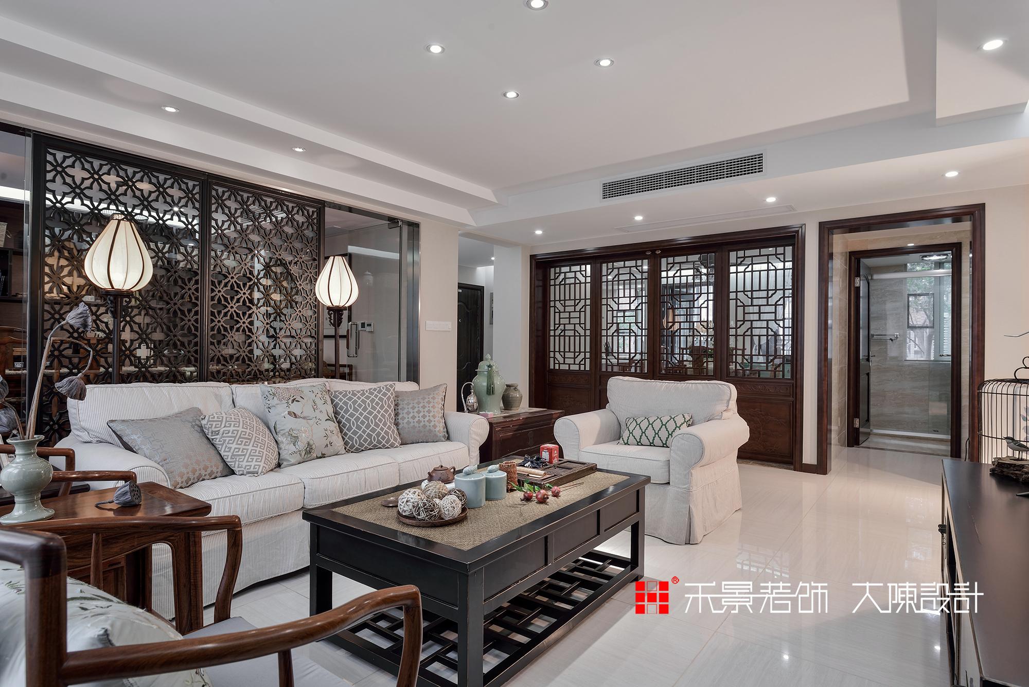 中式 客厅图片来自禾景大陈设计在空谷幽兰亦芬芳的分享