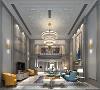 客厅以白灰+亮色系奠定空间的沉静基调,搭配明度适中的照明,令空间节奏更为舒缓。灰色给人以深邃、沉稳、辽阔之感。