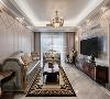 本项目为7栋奢阔洋房之一,业主是一对年轻夫妇和一个十岁的儿子,营造低奢典雅的气质,浪漫舒适的情调是本案的主题,风格为简约欧式。