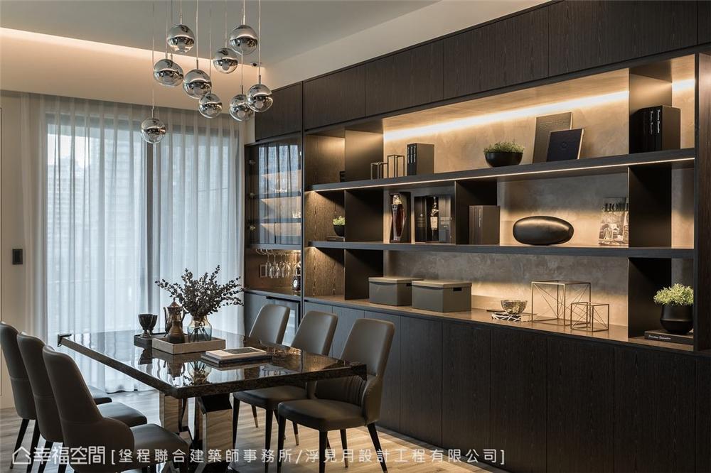 装修设计 装修完成 现代风格 餐厅图片来自幸福空间在205平,沉砌-砌筑生活的态度的分享