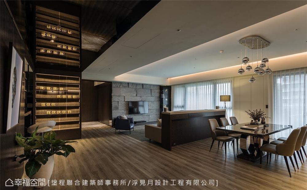 装修设计 装修完成 现代风格 客厅图片来自幸福空间在205平,沉砌-砌筑生活的态度的分享