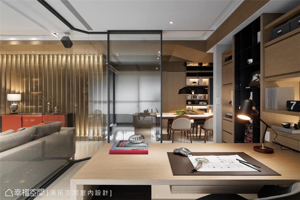 装修设计 装修完成 现代风格 书房图片来自幸福空间在281平,双拼空间  退休共乐住宅的分享