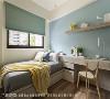 自然意象 刘献文设计师将浅蓝色调运用在各个空间,希望在家也能感受户外的蓝天白云。
