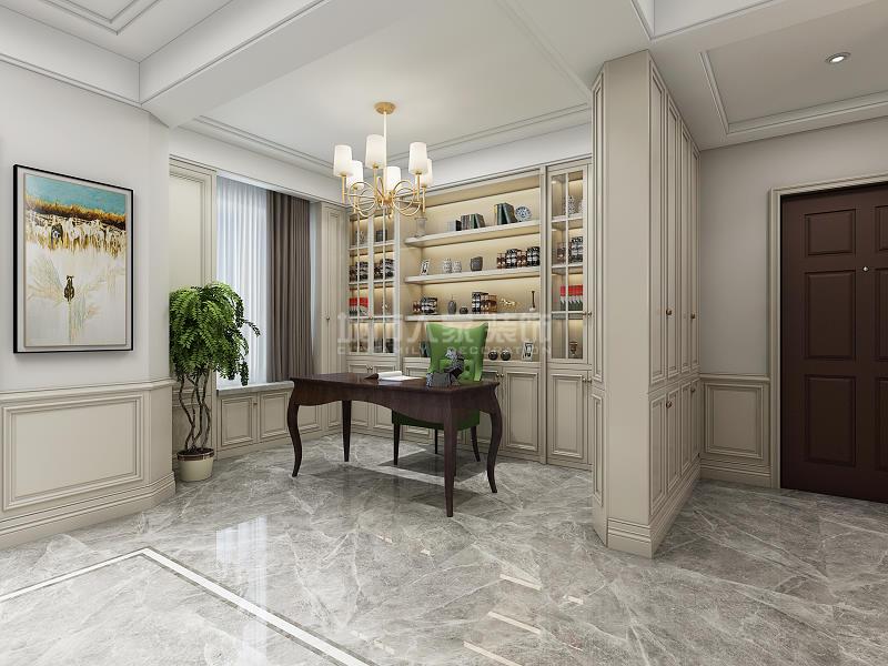 美式风格 三居 西安装修 装修公司 绿地城 书房图片来自西安城市人家装饰王凯在西安绿地城140平现代美式风格的分享