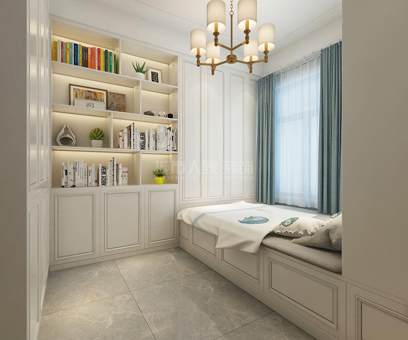 美式风格 三居 西安装修 装修公司 绿地城 卧室图片来自西安城市人家装饰王凯在西安绿地城140平现代美式风格的分享