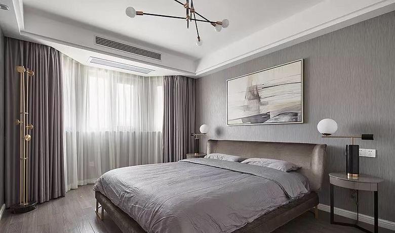 卧室图片来自家装大管家在130平极简主义3居 年轻人的最爱的分享