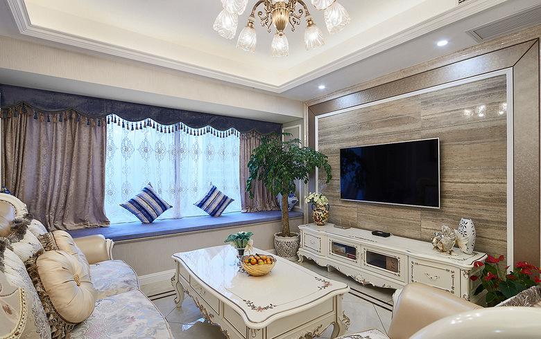 客厅图片来自家装大管家在89平新古典时尚居 线条勾勒空间的分享