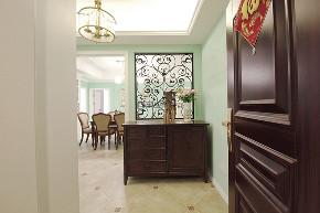 美式风格 简约 温馨 玄关图片来自俏业家装饰在重庆融创春晖十里四房简美风格的分享