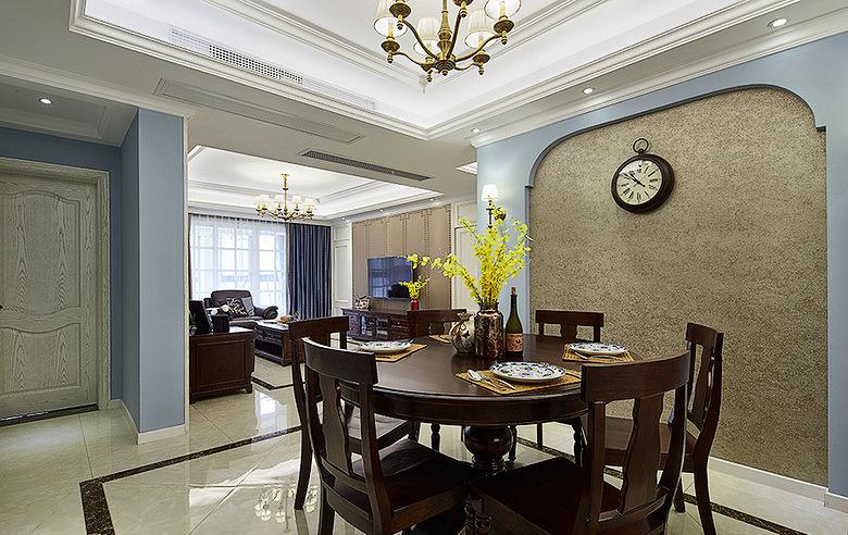 餐厅图片来自家装大管家在149平美式温馨3居 随性舒适生活的分享