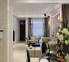 视觉拉高 运用大量的简约线板与门拱设计,创造视觉向上提升的效果,凸显本案的屋高优势。
