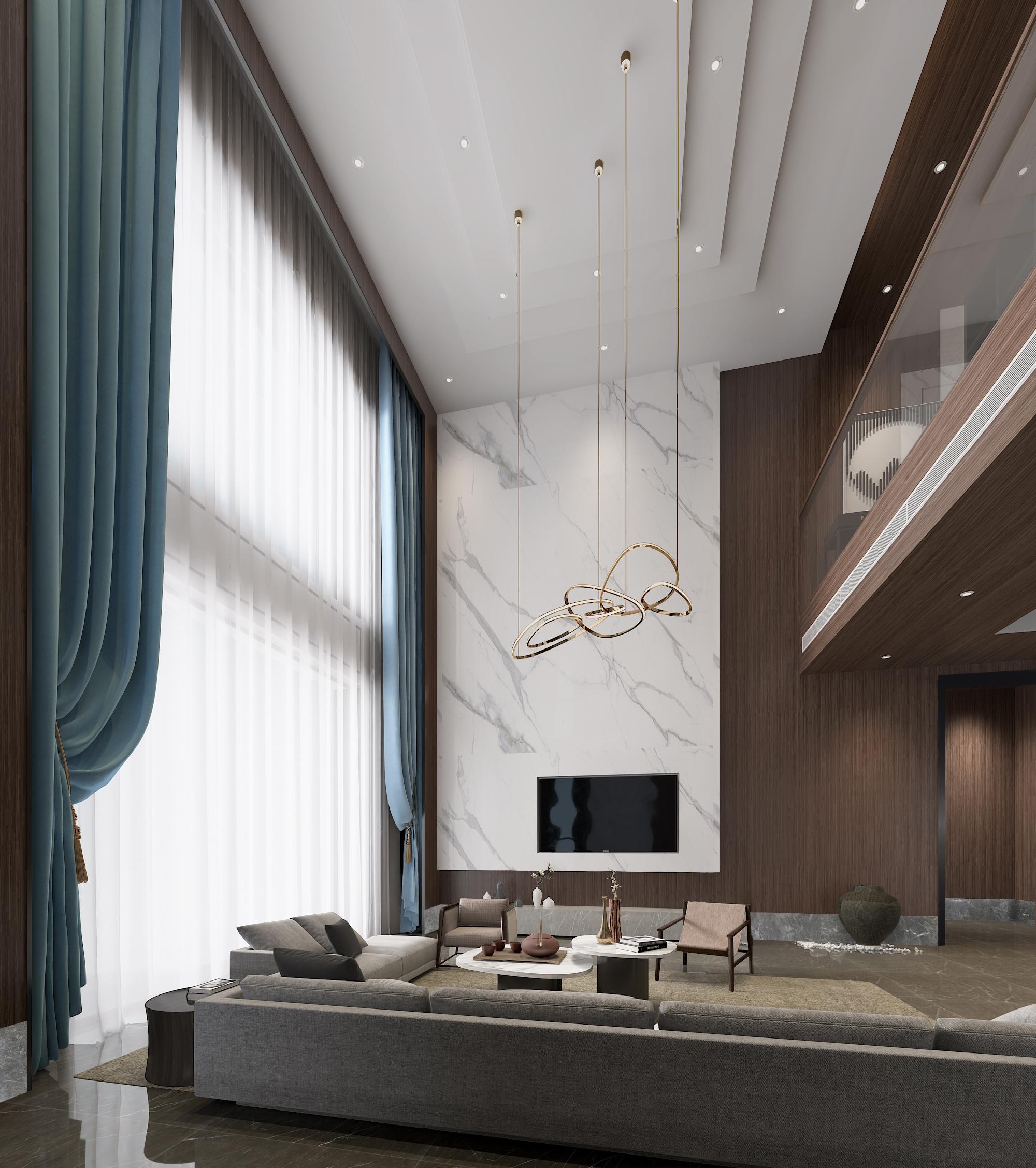 简约 混搭 别墅 客厅图片来自林上淮·圣奇凯尚装饰在爱家有故事·现代中式的分享