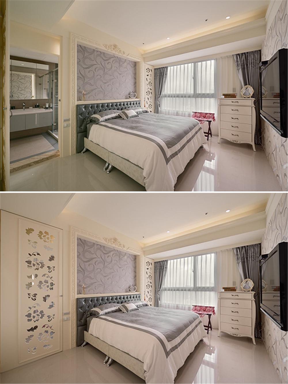 装修设计 装修完成 新古典 卧室图片来自幸福空间在264平,新古典与科技结合 智慧宅的分享