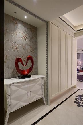 装修设计 装修完成 新古典 玄关图片来自幸福空间在264平,新古典与科技结合 智慧宅的分享