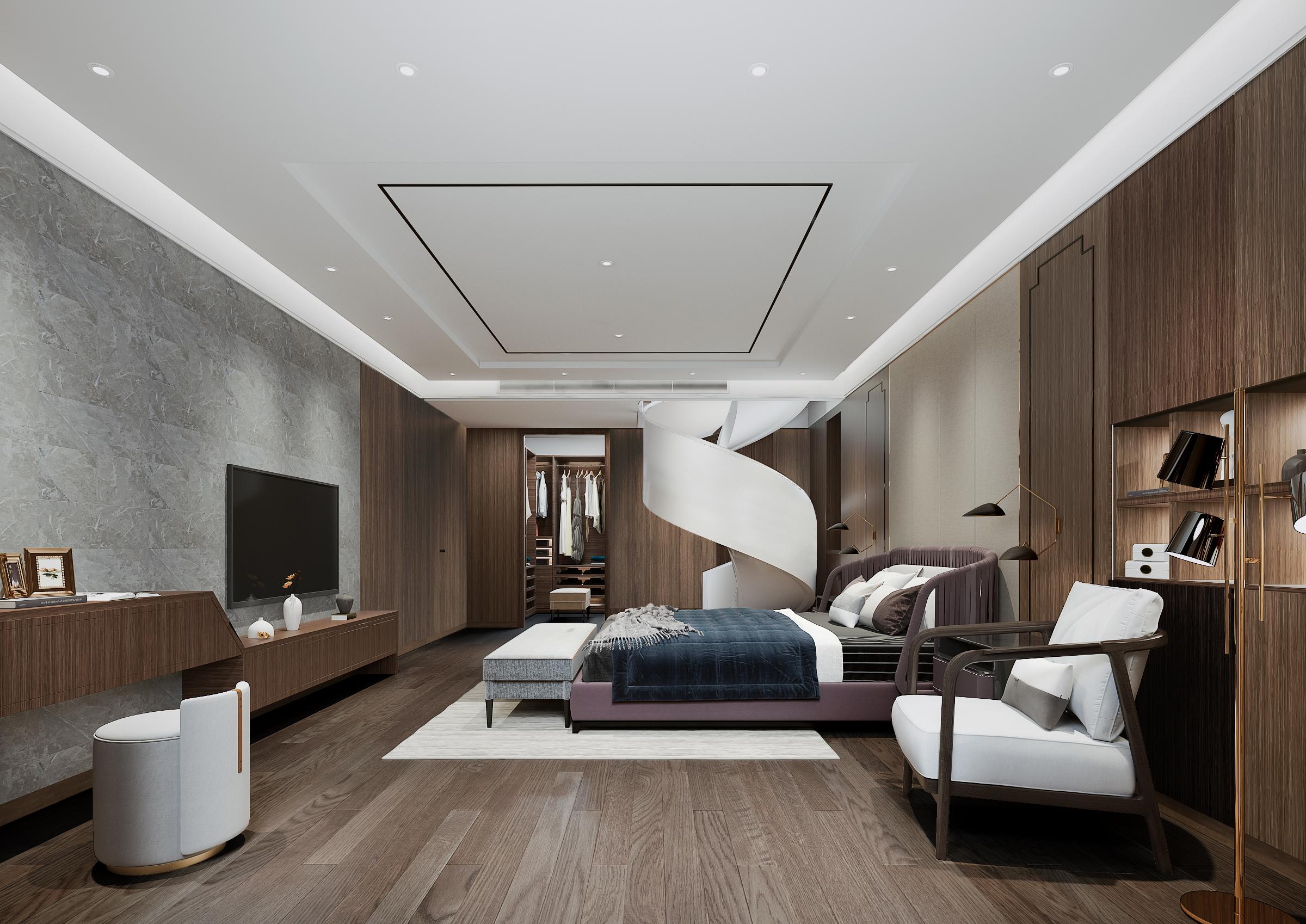 简约 混搭 别墅 卧室图片来自林上淮·圣奇凯尚装饰在爱家有故事·现代中式的分享