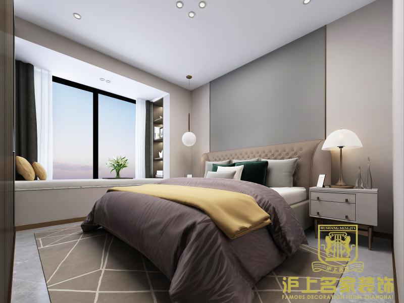 简约 四室 卧室图片来自河南沪上名家装饰在金科城138平现代简约风格效果图的分享