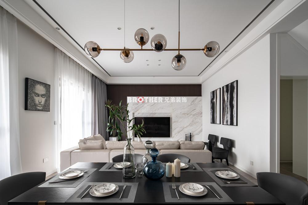 简约 别墅 小资 收纳 黑白灰 客厅图片来自兄弟装饰-蒋林明在光华安纳溪湖别墅设计的分享