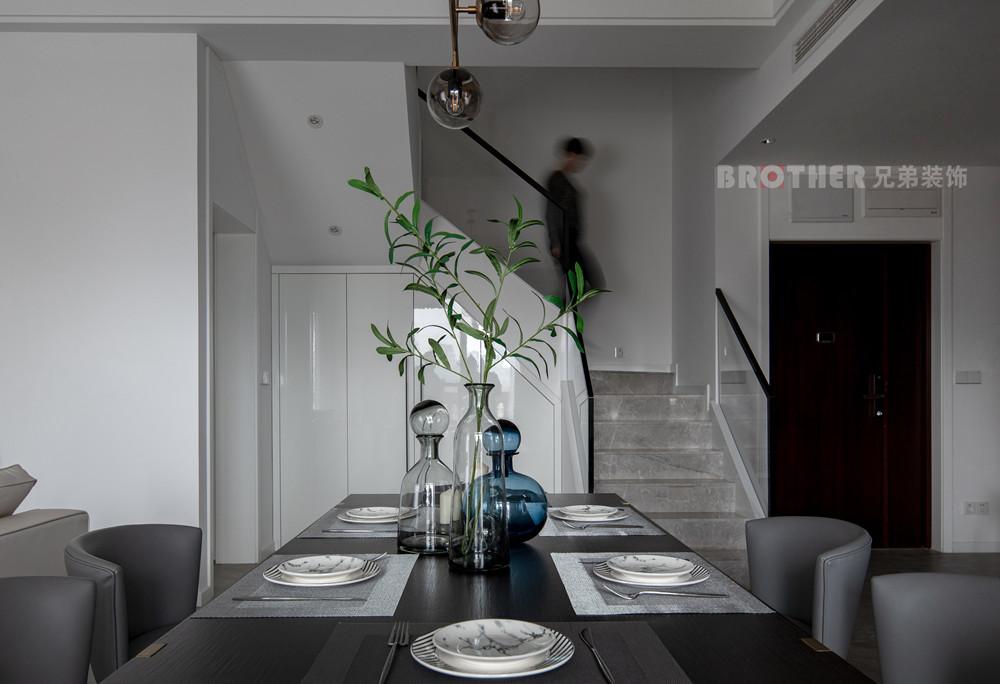 简约 别墅 小资 收纳 黑白灰 餐厅图片来自兄弟装饰-蒋林明在光华安纳溪湖别墅设计的分享