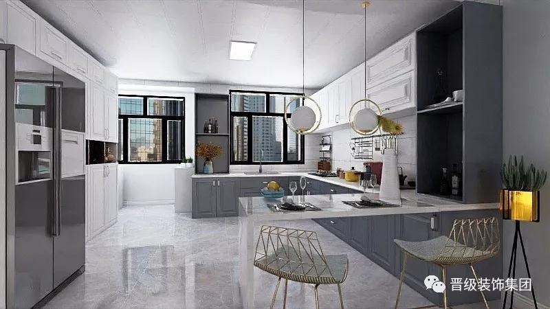 厨房图片来自晋级装饰潘露在晋级装饰—银亿大城印象北欧风格的分享