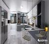 在主色柔白中融入浅灰,以木材的暖感中和大理石的冷光,没有太多繁杂的家具装饰,一切从简,营造暖而清的生活氛围。