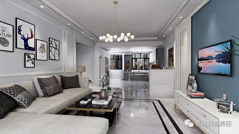客厅图片来自晋级装饰潘露在晋级装饰—银亿大城印象北欧风格的分享