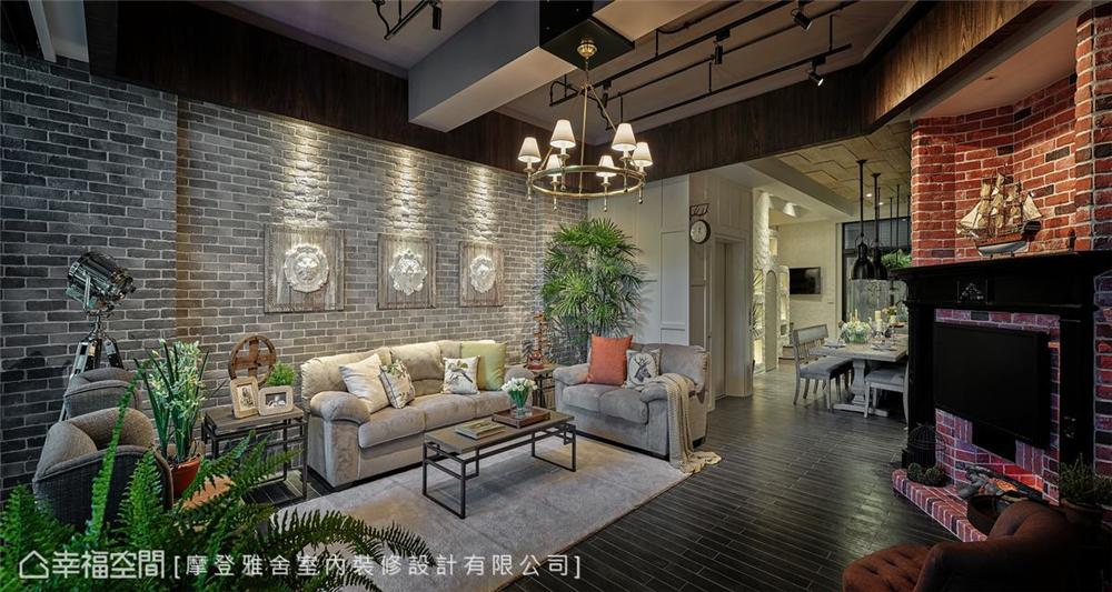 装修设计 装修完成 休闲多元异 客厅图片来自幸福空间在198平,绿意工业风,舒适美宅的分享