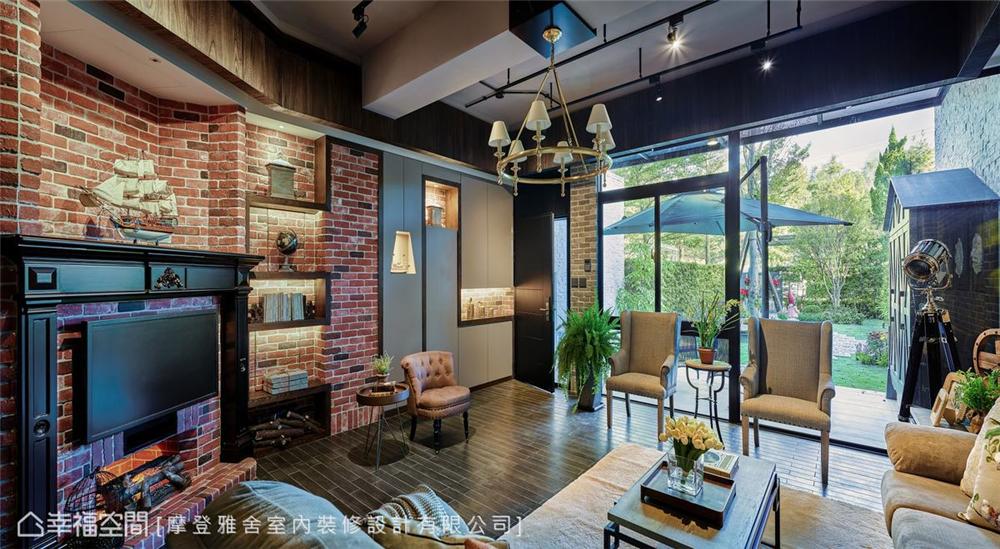装修设计 装修完成 休闲多元异 玄关图片来自幸福空间在198平,绿意工业风,舒适美宅的分享